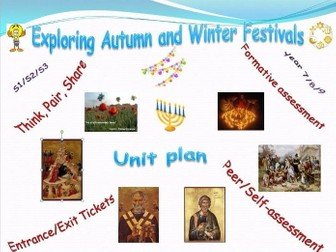 Exploring Autumn and Winter Festivals - unit plan