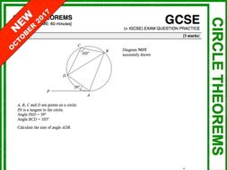 GCSE 9-1 Exam Question Practice (Circle Theorems)