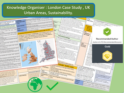 Knowledge Organiser AQA 9-1: London Case Study, UK City and Sustainability.