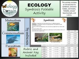 Ecology: Symbiosis Foldable