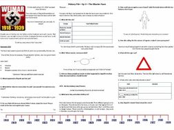 BBC History File  - Nazi Germany - Supporting Worksheets Ep. 1,2,4 & 5