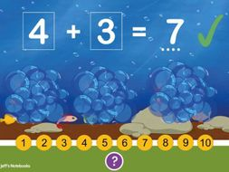 Addition up to 10. Part 1. Interactive Teaching Page & Worksheets