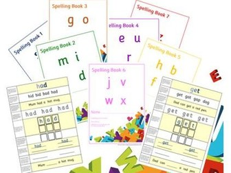 Phonics for SEN: Spelling Practice HF Words Sets 1-7 Sounds - One Word a Page – KS1 and SEN Pupils