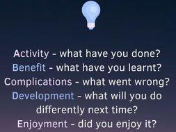 The ABCDE Reflective Model - Edward Key (Plenary Activity; Self-assessment; Self-reflection)