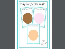 Playdough Face Mats