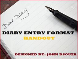 DIARY ENTRY FORMAT HANDOUT