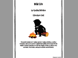 Wild life by cynthia defelice literature unit by wife teacher mom.