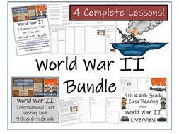 UKS2 History - Bundle of World War II Activities