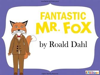 Fantastic Mr Fox - KS2 Unit of Work (103 slide PowerPoint and 19 worksheets)