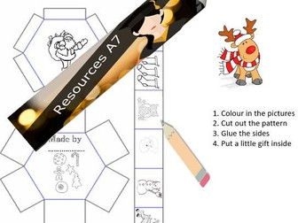 Gift Box Templates for early learning to KS1