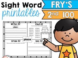 Sight Words: Fry Second 100