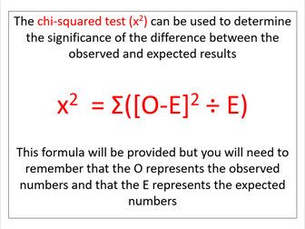 Chi-squared test (AQA A-level Biology)