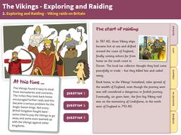Raids on Britain - Interactive Teaching Book - The Vikings KS2
