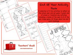 End Of Year Activity Pack 1