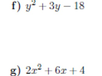Expanding brackets and factorising 2 worksheet (with solutions)