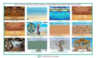 Cardinal-Ordinal Numbers Fishing Interactive English PowerPoint Game