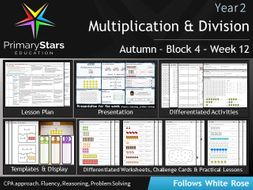 YEAR 2 - Multiplication- White Rose - WEEK 12 - Block 4 - Aut - Differentiated Planning & Resources
