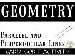 Parallel and Perpendicular Lines Card Sort Activity