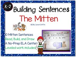 Building Sentences - The Mitten - No-Prep Writing Center