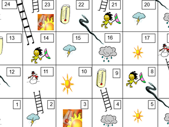 Weather in French - snakes and ladders