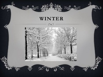 Descriptive writing: Winter