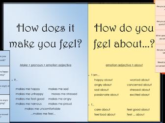 TEFL language patterns - Talking about feelings