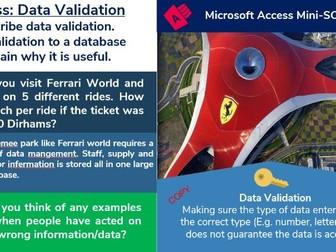 3. Access Database: Validation & Sorting (3/6)