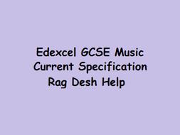 Rag Desh Revision/Key Info Edexcel GCSE Music Current Specification
