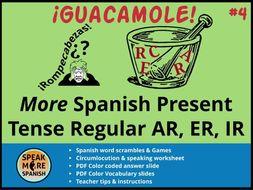 Spanish Puzzles & Games *More Regular Present Verbs AR,ER,IR *Juegos del presente regular en español