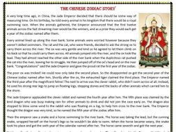 The Chinese Zodiac Story - Reading Comprehension Worksheet by ...