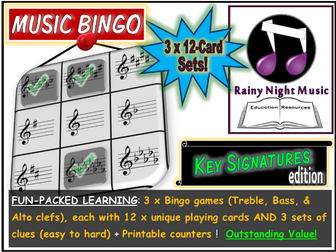 MUSIC BINGO Key Signatures
