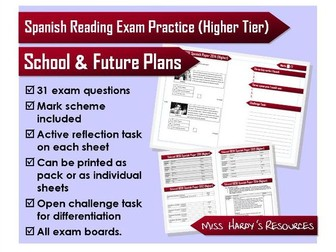 GCSE Spanish - Reading Exam Questions - School and Future Plans - Higher Tier - All Exam Boards