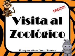 Zoo Visit Animals Opinion writing Spanish Mi visita al zoológico Freebie