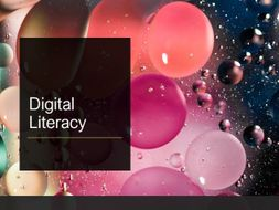 Literacy and Digital literacy skills -record cards