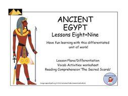 AncientEgypt:VocabAct+ReadingComp-TheSacredScarab