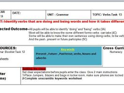 English Verb Outstanding Ofsted Lesson