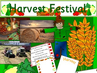 Harvest Festival- activities, display materials, Assembly powerpoint