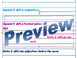Y3 Morning activity - Take One Sentence - SPAG