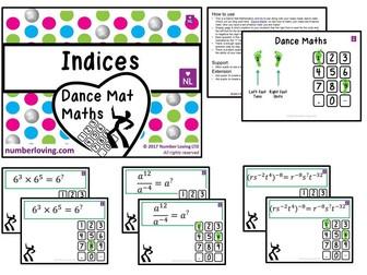 Indices (Dance Mat Maths)