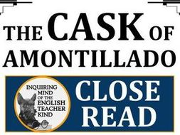 """The Cask of Amontillado"" Close Reading Worksheet & Key"