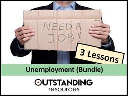 Economics: Unemployment Bundle (3 Lessons)