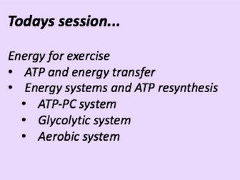 A-Level PE Energy Systems Lesson
