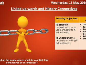 Linked up Words and History Connectives