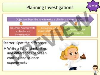 Working Scientifically: Planning Investigations (KS3 Activate)