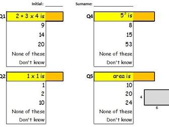 Math basic misconception quiz – paperless classroom