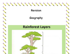Geography Revision Booklet - The rainforest, Brazil and deforestation.