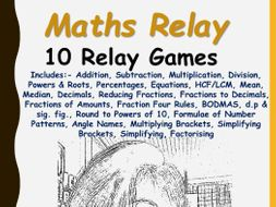Maths Relay Games