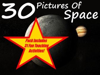 30 Pictures of Space + 31 Fun Teaching Activities For These Cards