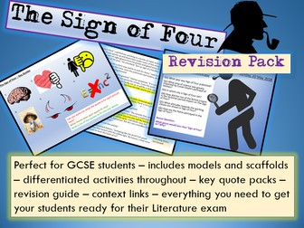 Sign of Four GCSE 9-1 Exam Practice / Revision