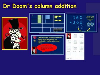 Column addition for Year 3 featuring Dr Doom!
